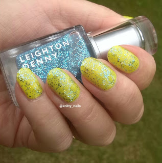 China Glaze Daisy Know My Name and  Leighton Denny Funky Town