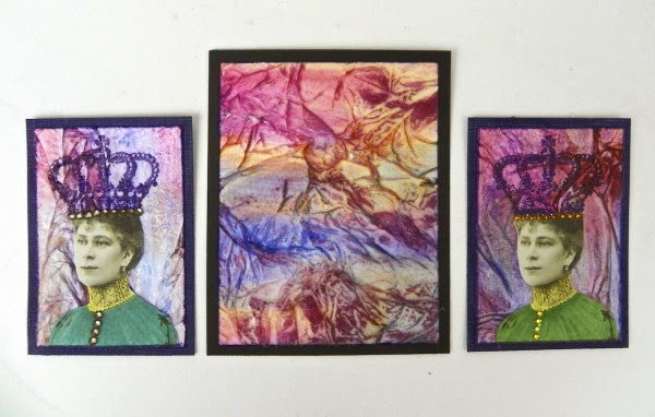 watercolor wrinkled tissue panels