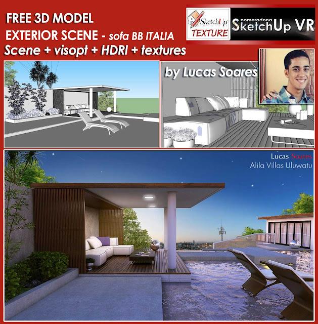 sketchup model villa exterior#2-cover