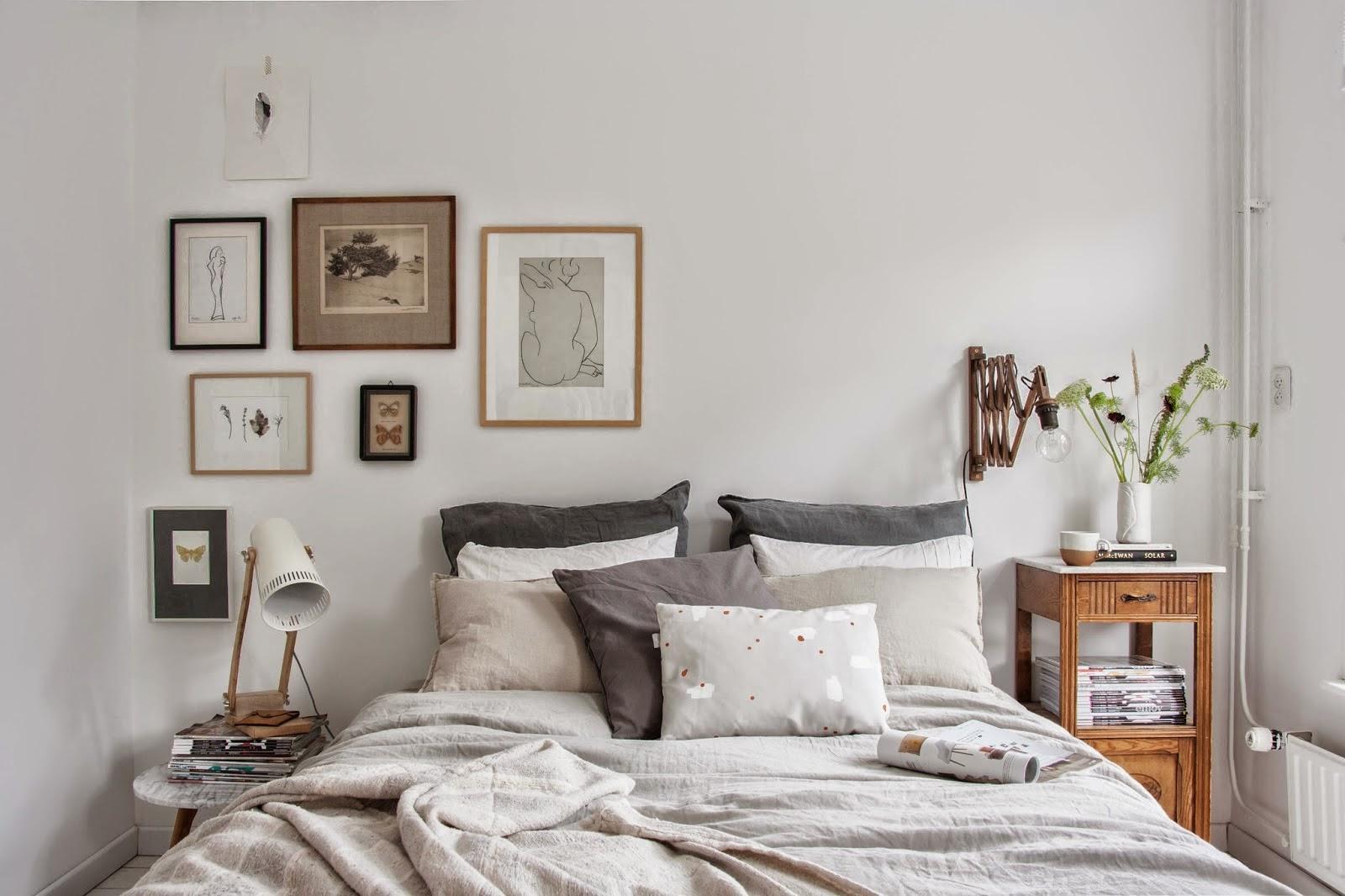 Un dormitorio con vestidor de estilo n rdico vintage - Dormitorios con estilo ...