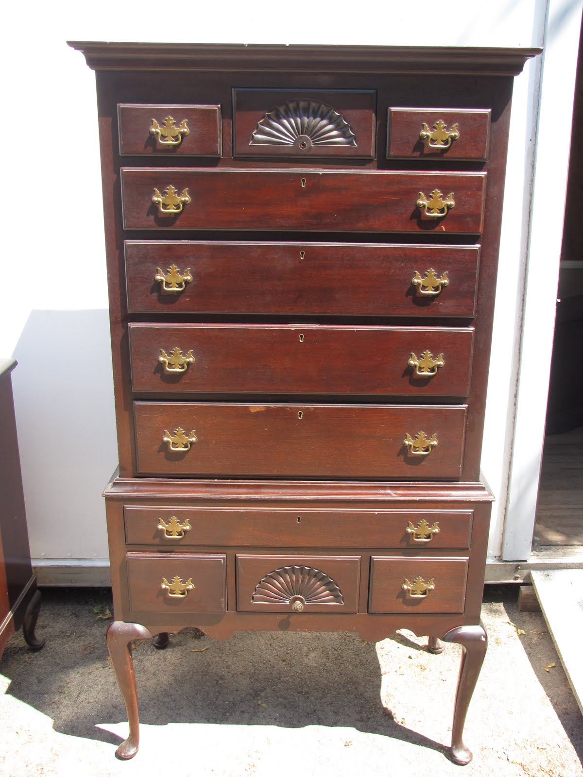 WSS Thrift: Antique Queen Anne's Highboy and Dresser set