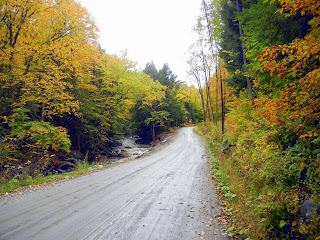 Driving to Camel's Hump State Park to hike the Monroe Trail during fall