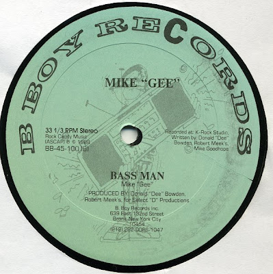 "Mike ""Gee"" – Bass Man – 12"" – 1988"