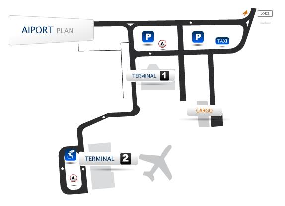 схема аэропорта Лодзь