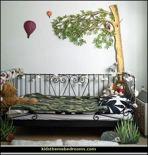 Theme bedroom decorating ideas for Garden themed bedroom ideas