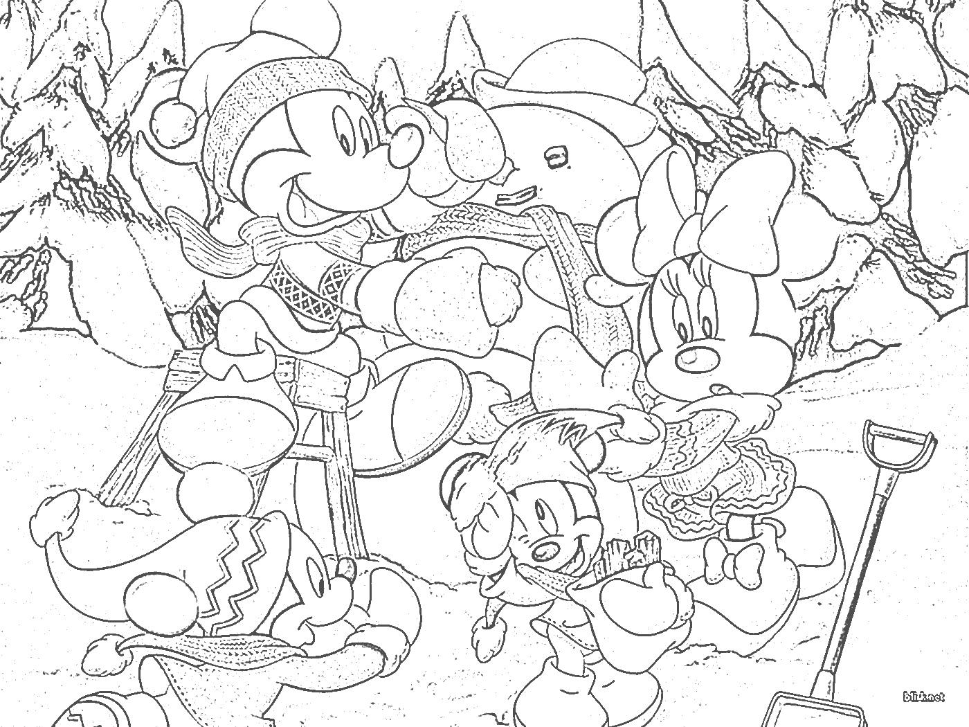 xmas disney coloring pages - photo#9