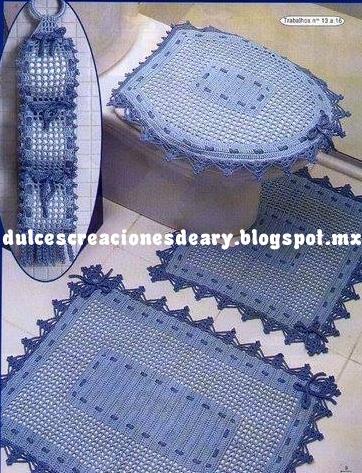 dulcescreacionesdeary  juego de ba  o a crochet