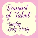 "alt=""bouquet of talent party button"""