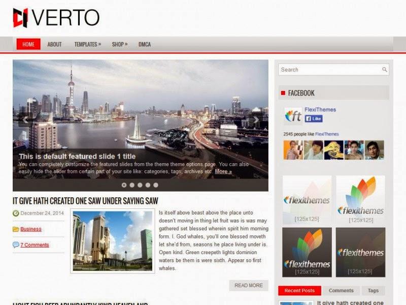 Verto - Free Wordpress Theme