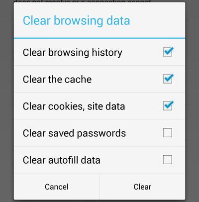 Cómo borrar los datos de navegación en Chrome desde un teléfono Android