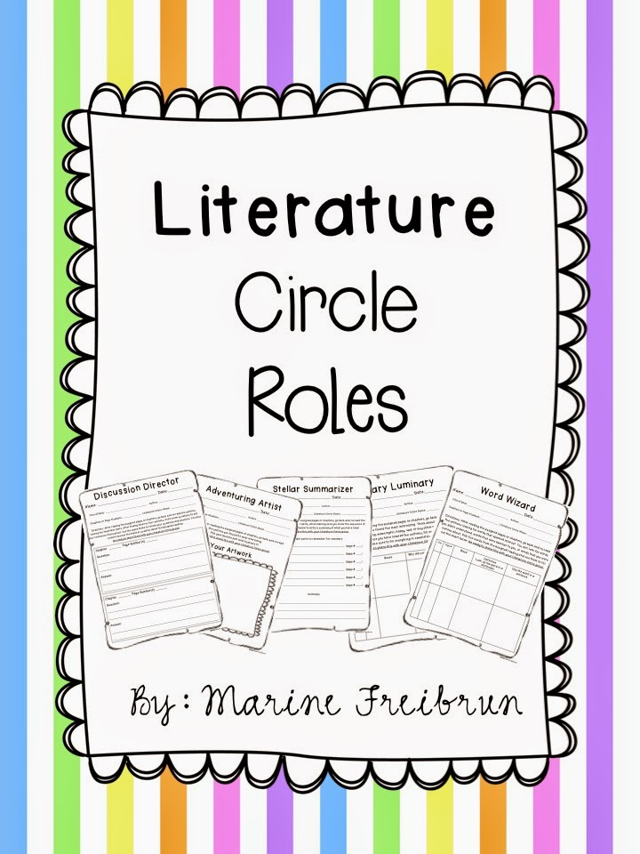 Literature Classroom Decor ~ Literature circle printables tales from a very busy teacher