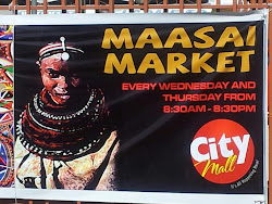 a Maasai Market banner