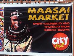 a Maasai Market banner