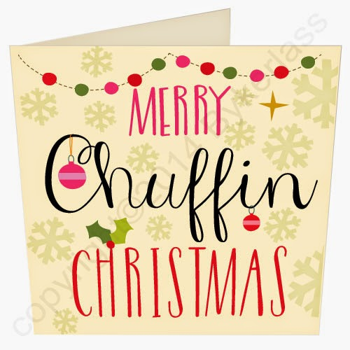 Merry Chuffin Christmas Yorkshire Christmas Card