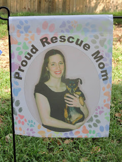 Personalized rescue dog garden flag