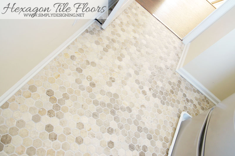 Hexagon Tile Floors | a complete tutorial for how to demo, prep, install concrete backer board and install new tile floors | #diy #tile #homeimprovement #hexagontile #travertine #thetileshop @thetileshop