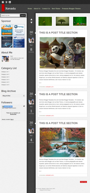 NewsForce 2 Column Blogger Template