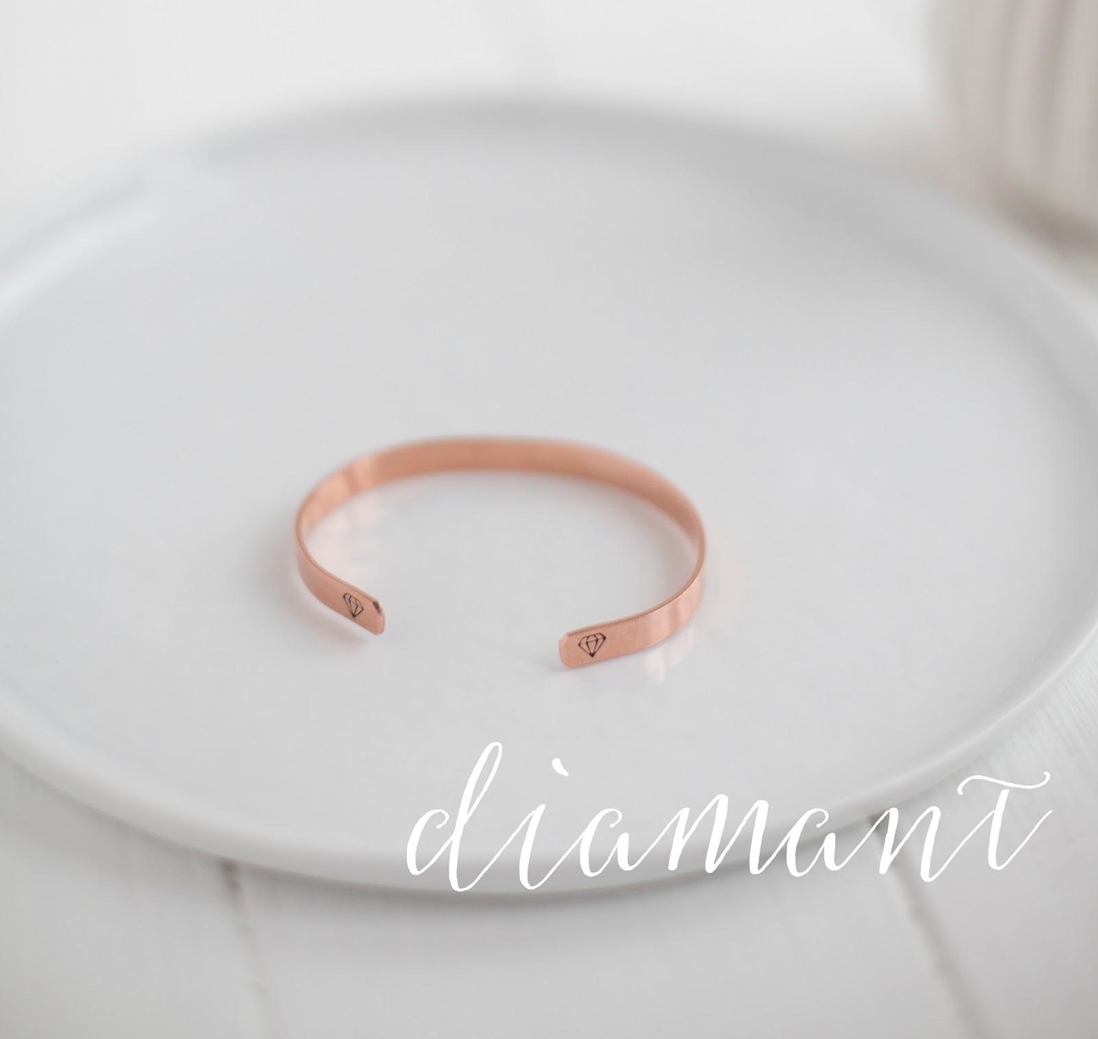 Kupferarmreif Diamant
