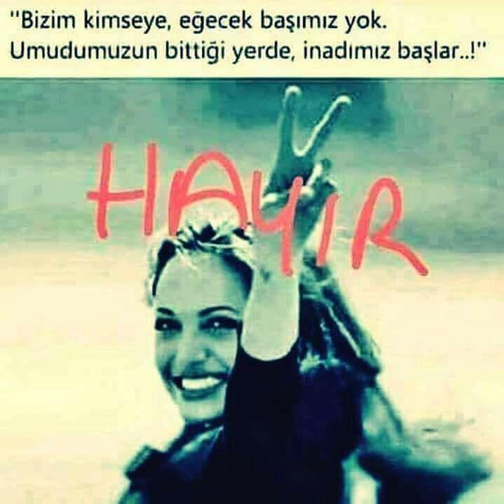 HAYIR! HAYIR! HAYIR!