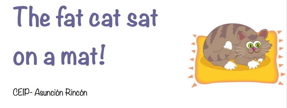 The fat cat sat on a mat!