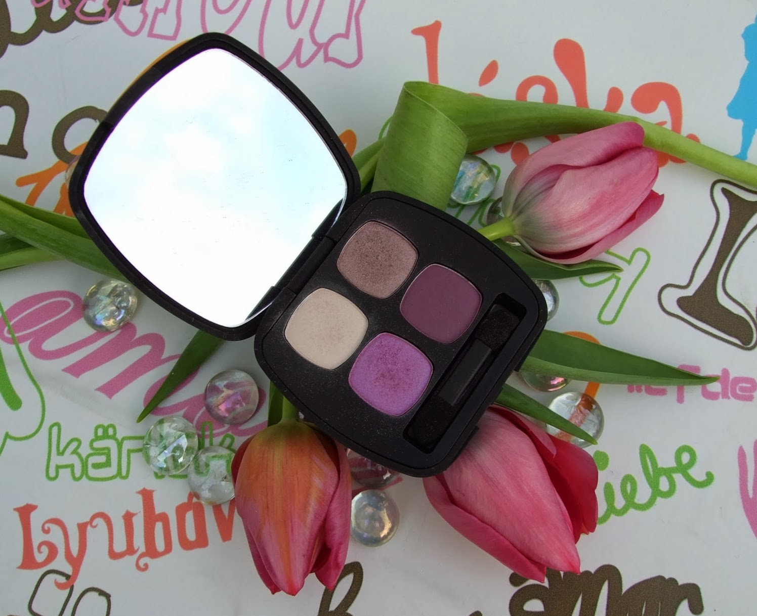 bare minerals Dream sequence purple eye-shadow quad review bare escentuals beauty blog