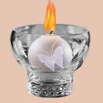 Una vela encendida