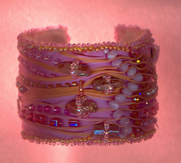 Cuff with crystals