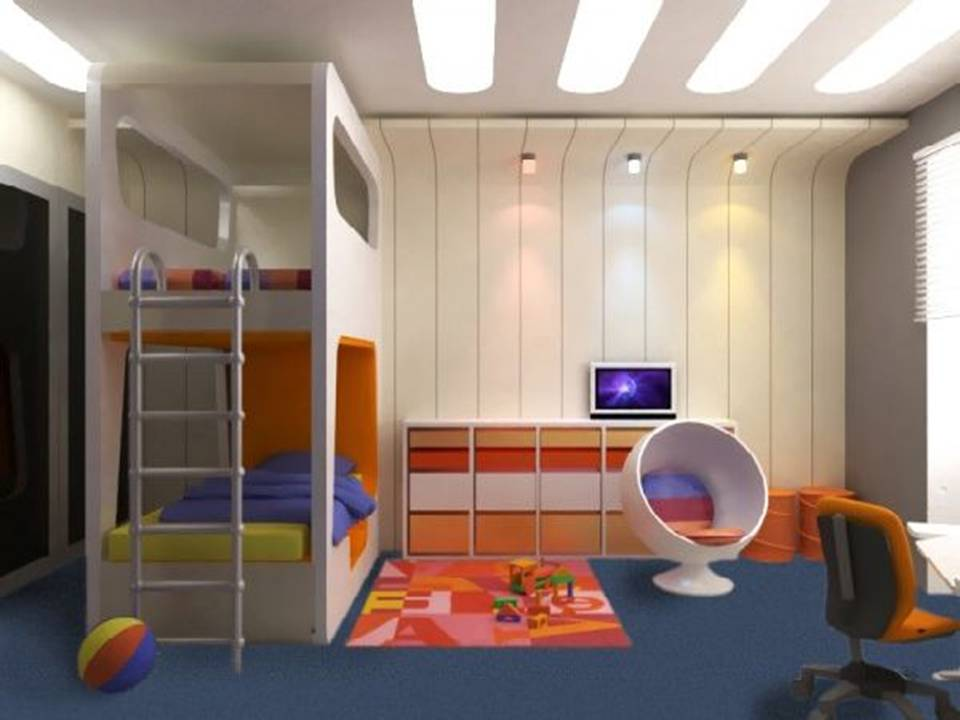 Fresh modern kids bedroom designs for Latest children bedroom designs