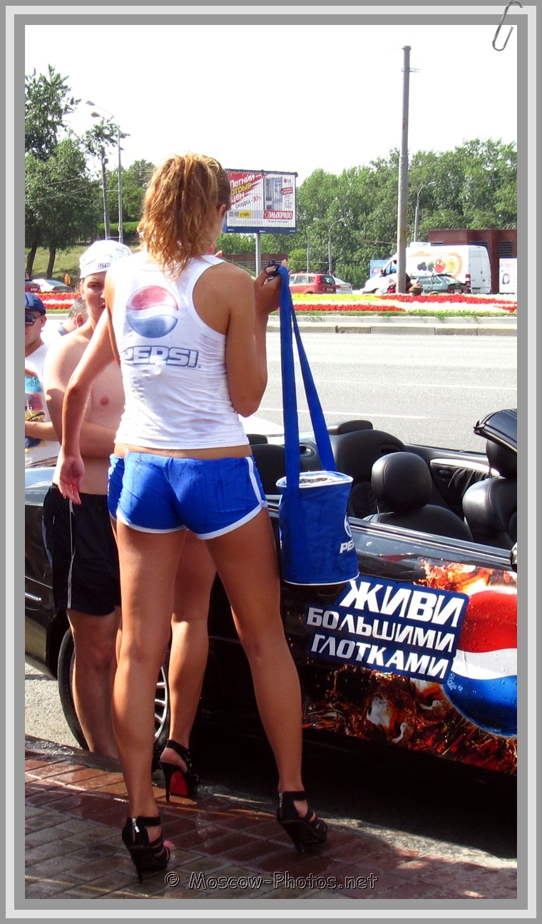 High Heels Pepsi Girl