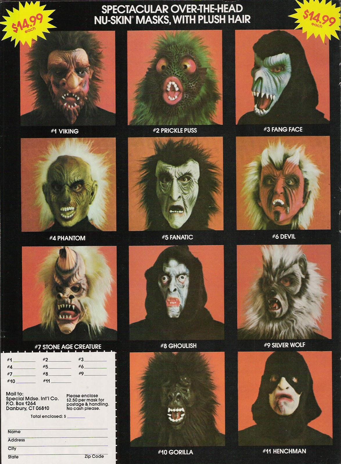 Blood Curdling Blog of Monster Masks: February 2011