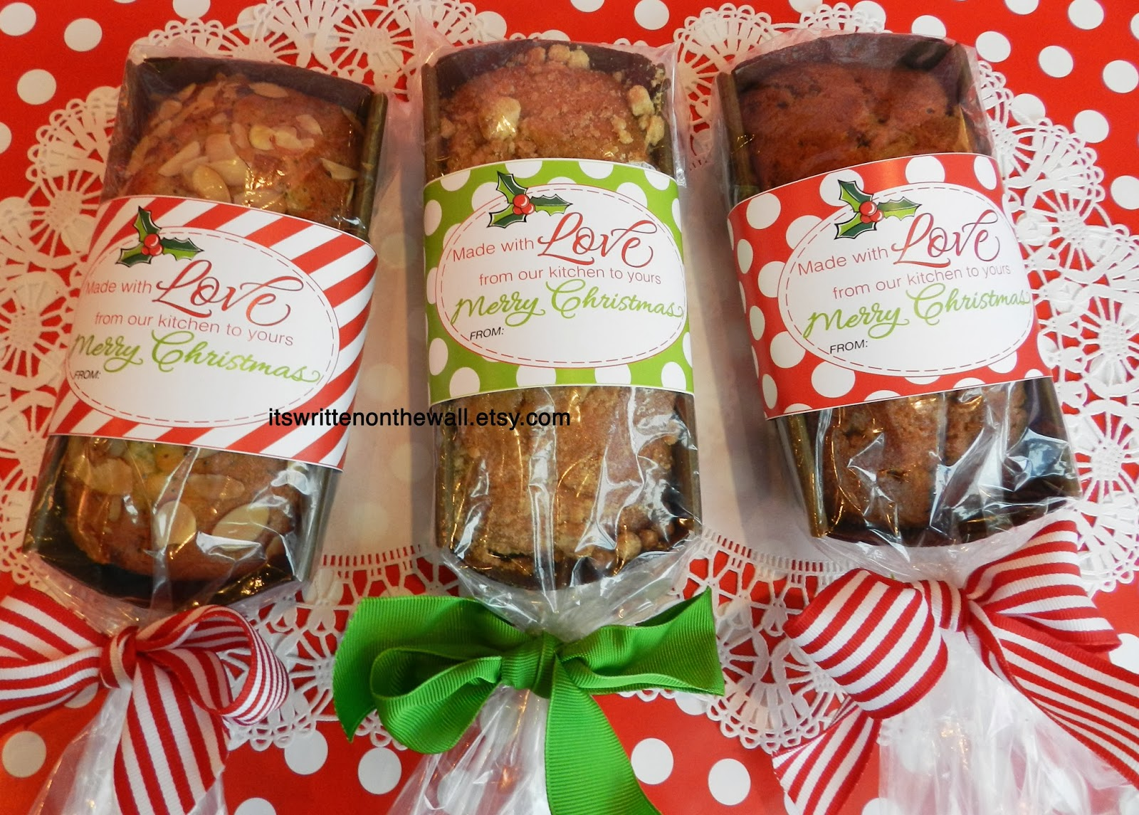 Christmas neighbor gifts tags for homemade or store bought for Homemade baked goods for christmas gifts