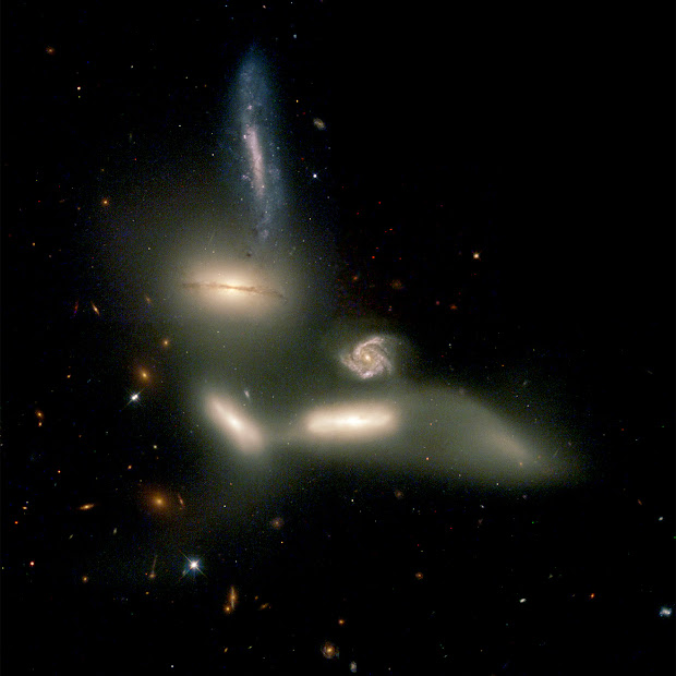 Seyfert's Sextet as imaged by Hubble