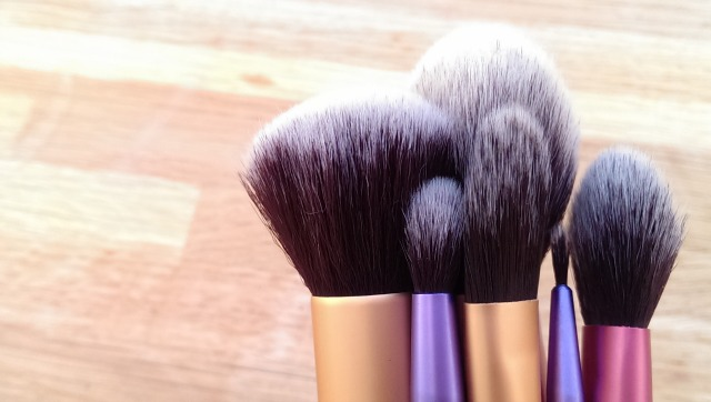 Close up of real techniques brushes