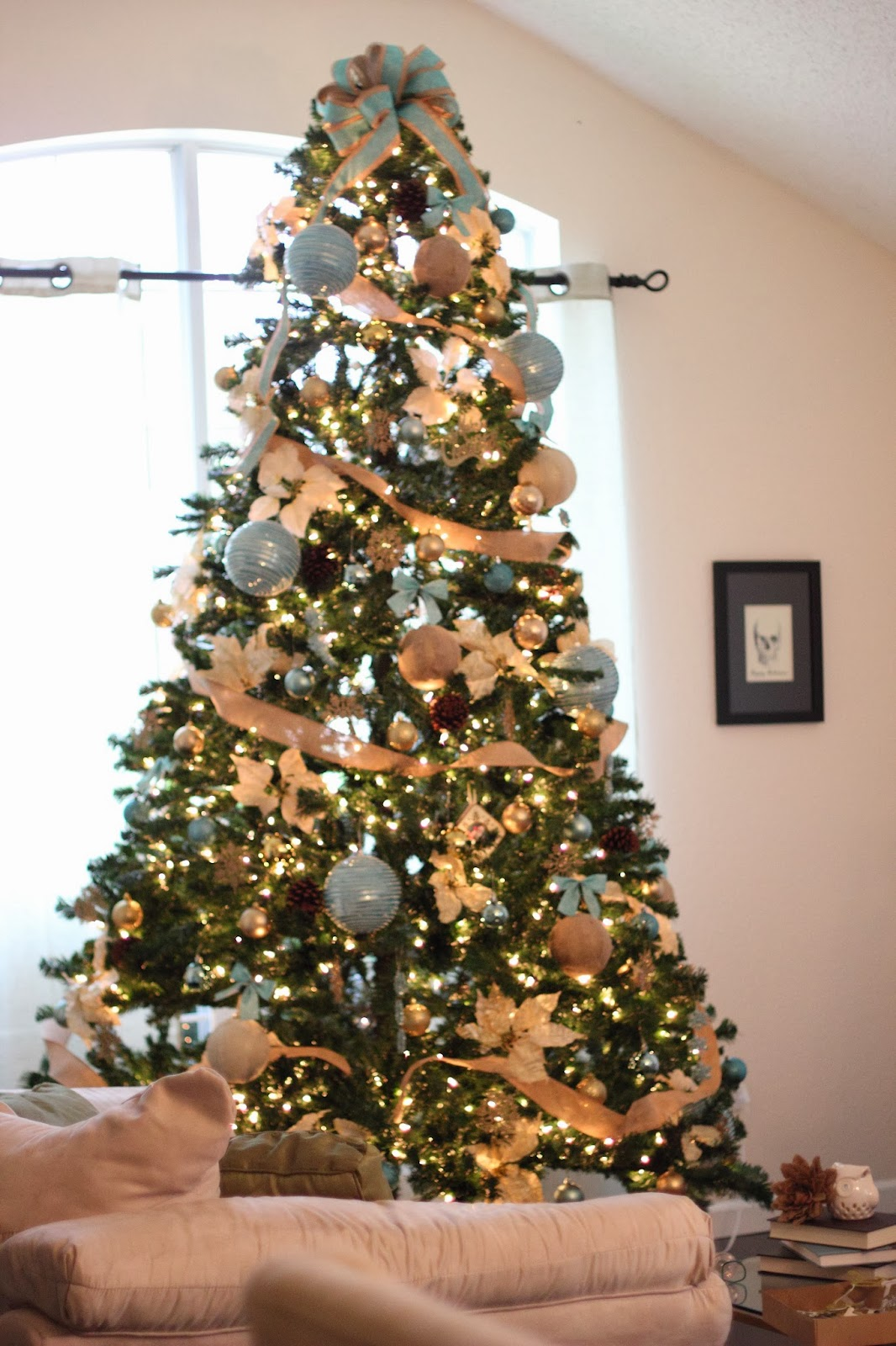 wright by me diy christmas tree bows. Black Bedroom Furniture Sets. Home Design Ideas