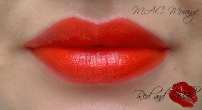 MAC Morange Orange swatch and review bright orange summer lipstick