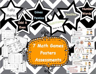 Math Centers K-1 Free