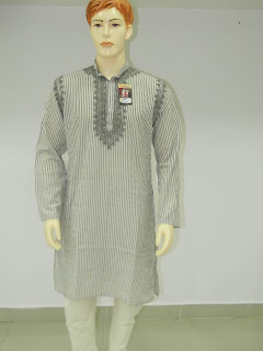 Lucknowi Chikan Cotton Men Kurta