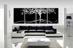 Abstract Painting Tree of Life - Black & White by Dora Woodrum - ONLY $250 & SHIPPING IS FREE!