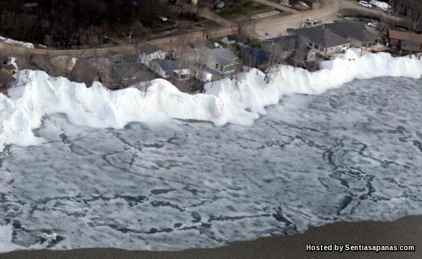 Ice Shove, Mille Lacs, Minnesota