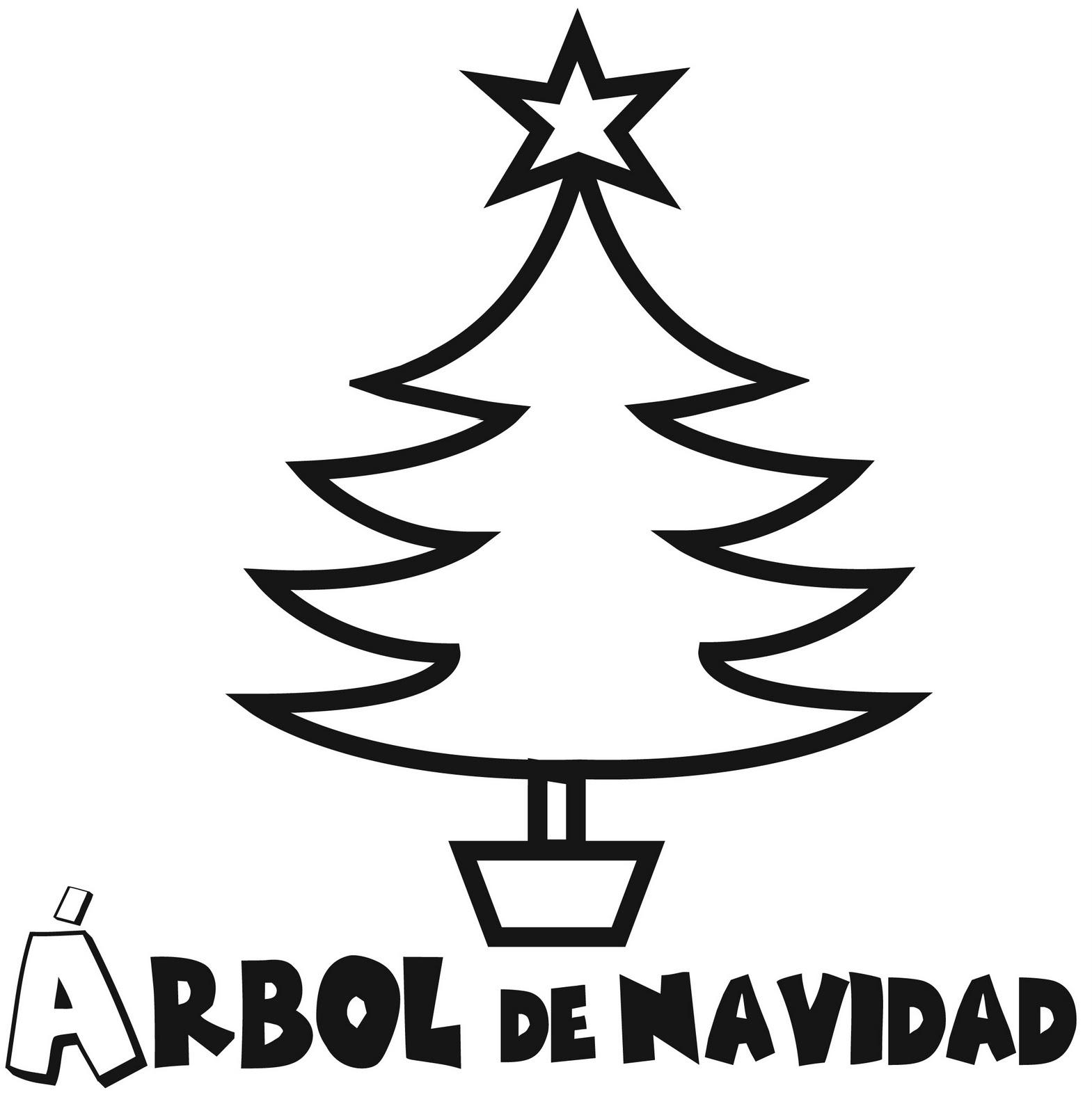 Cultura infantil rbol de navidad para colorear for Dibujo arbol navidad