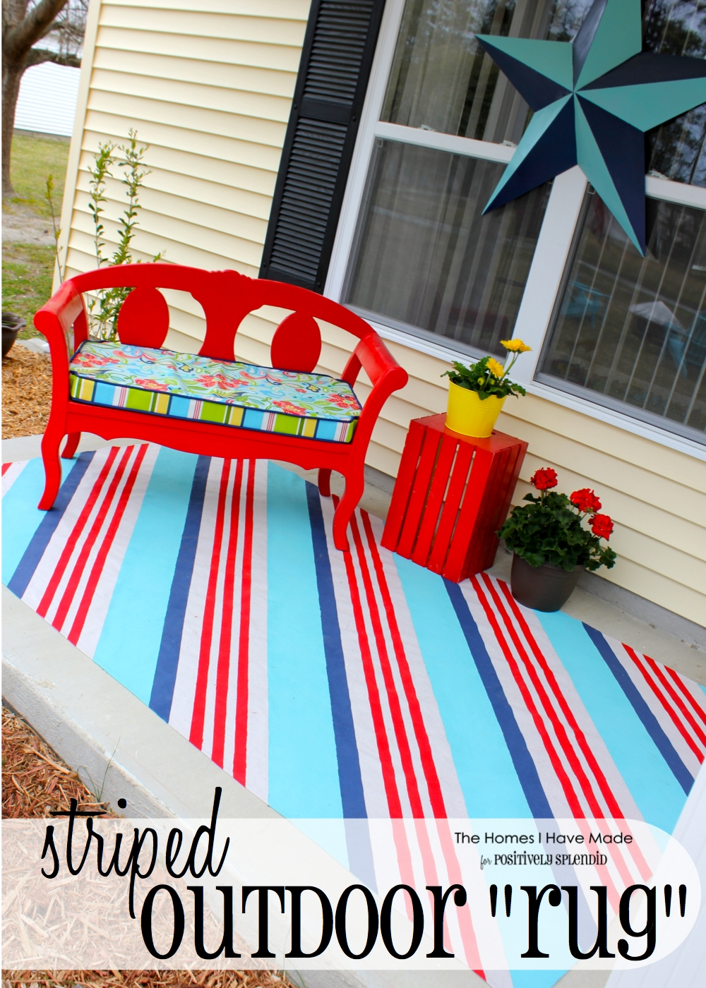 paint your diy outdoor painted rug a own beautiful mess