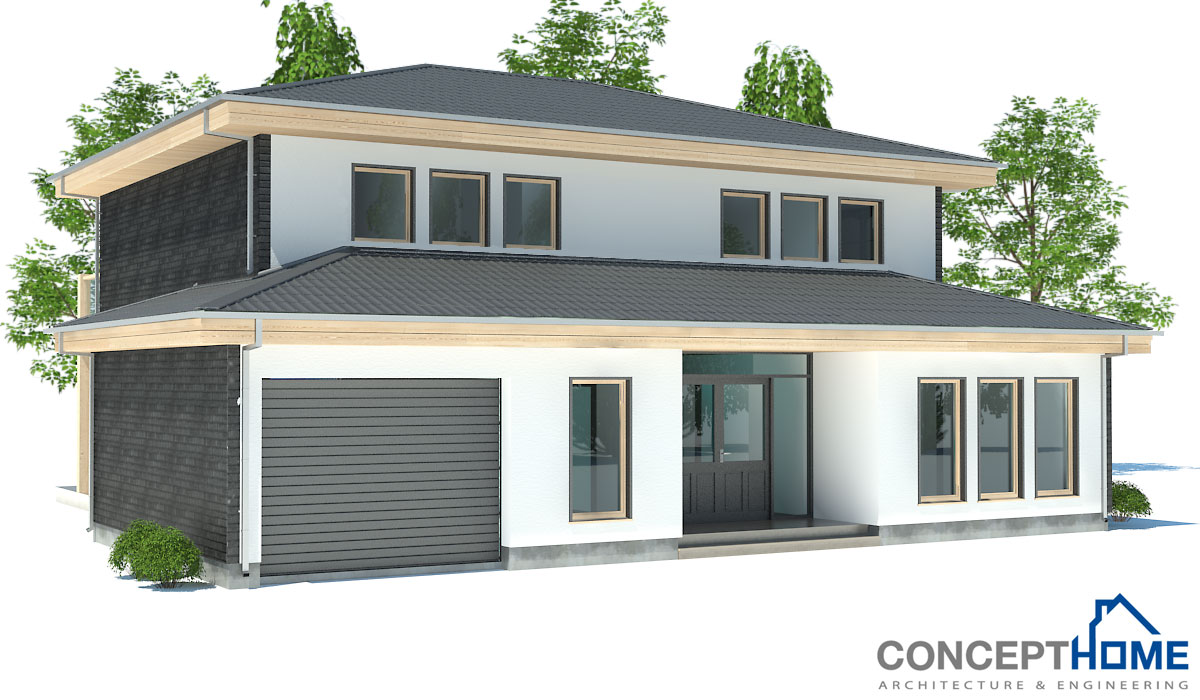 Contemporary house plans modern contemporary house plan ch176 for Modern house design 2013