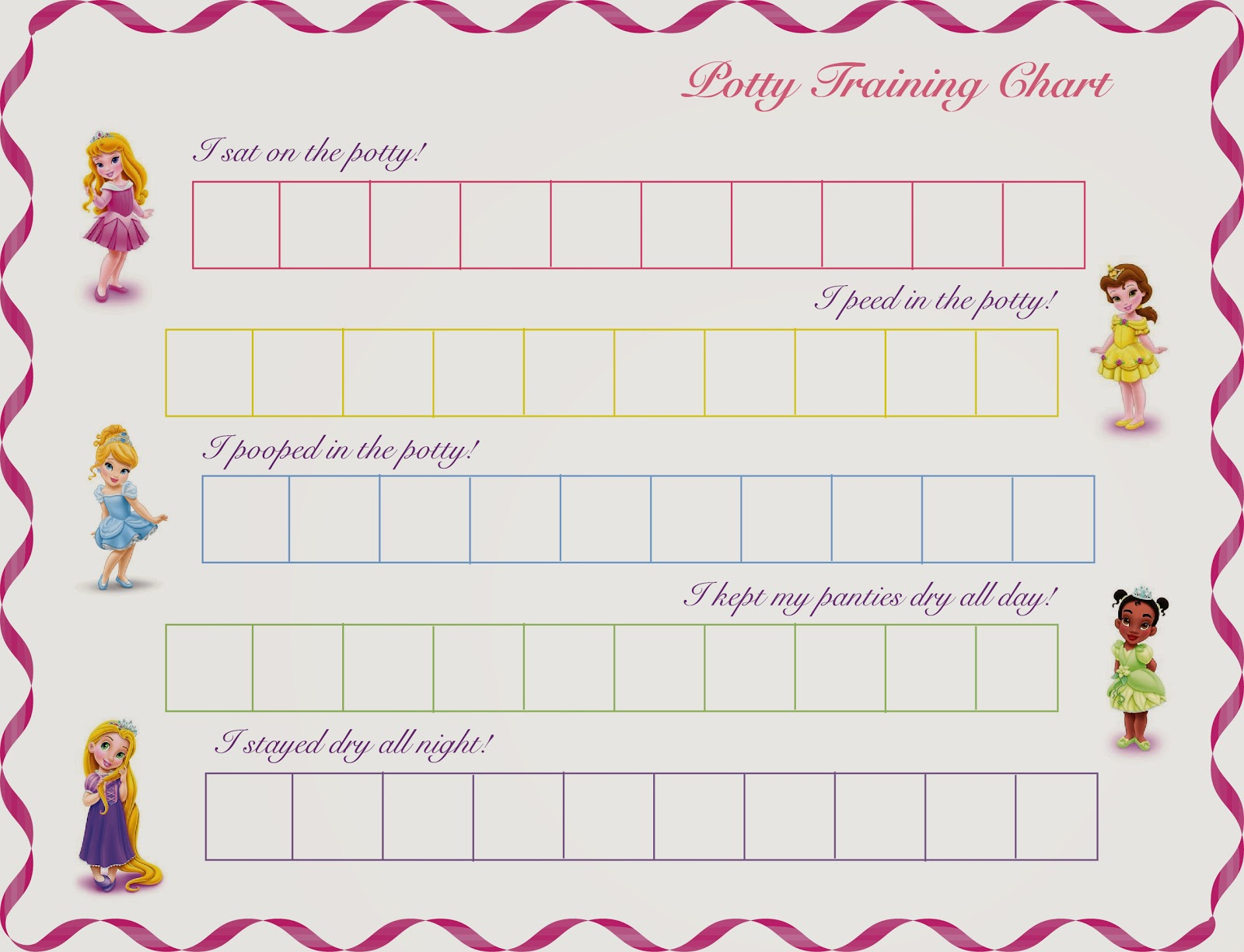 photograph regarding Free Printable Potty Training Charts referred to as Warm Commodity House Decor: No cost Printable Princess Potty