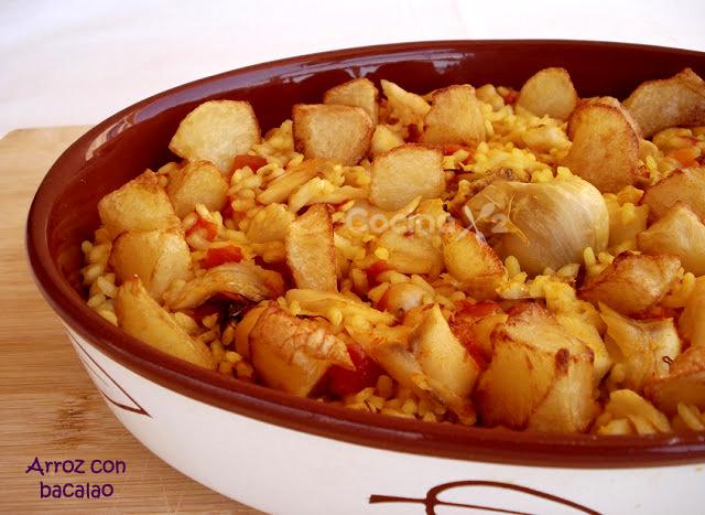 Cocinax2 las recetas de laurita arroz con bacalao paso - Arroz con bacalao desmigado ...