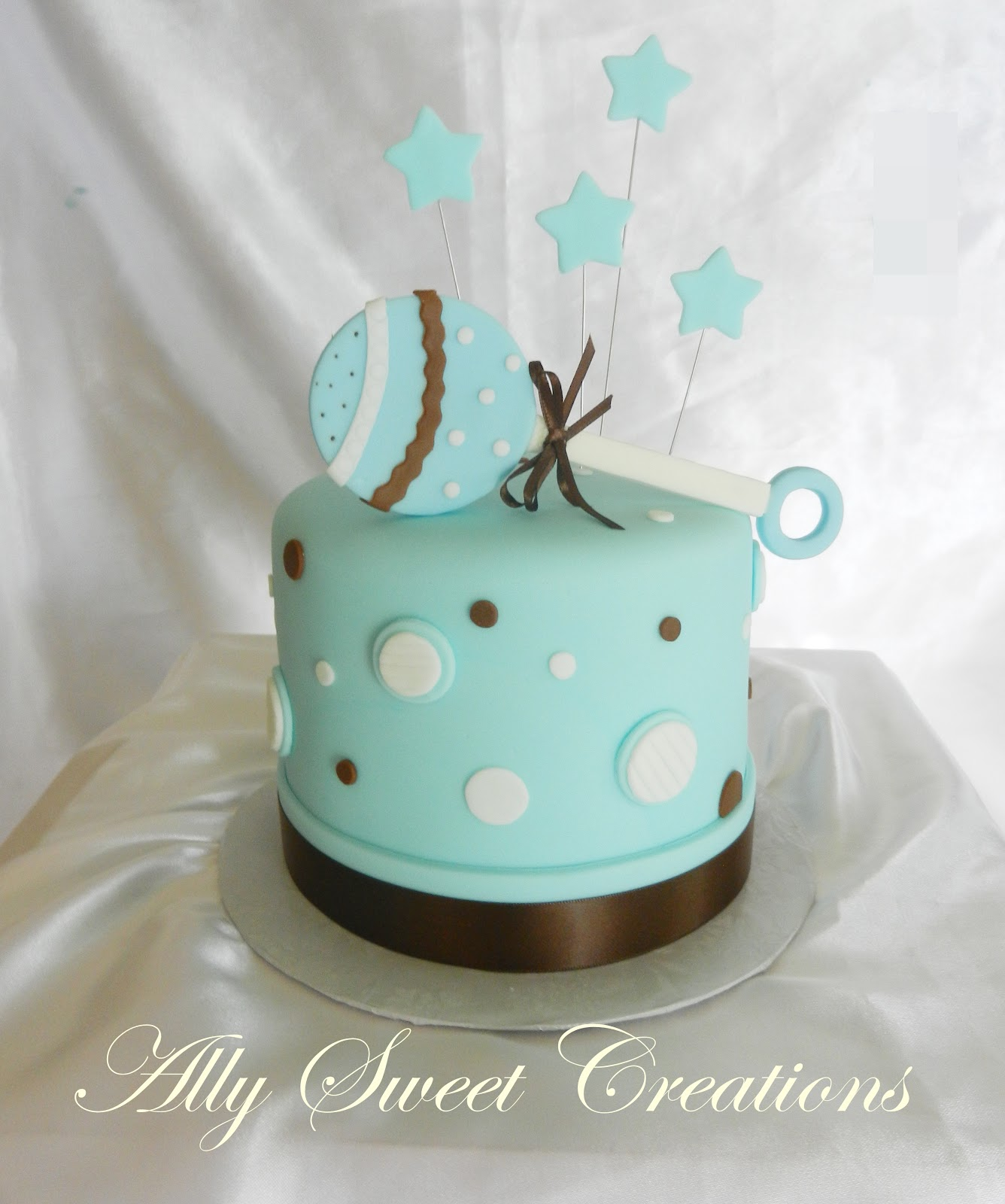 Ally Sweet Creations Baby Shower One Tier Cake