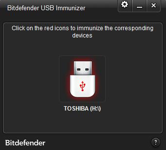 Screenshot Bitdefender USB Immunizer