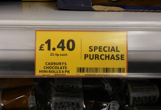 Cadburys chocolate mini-rolls - Tesco special purchase
