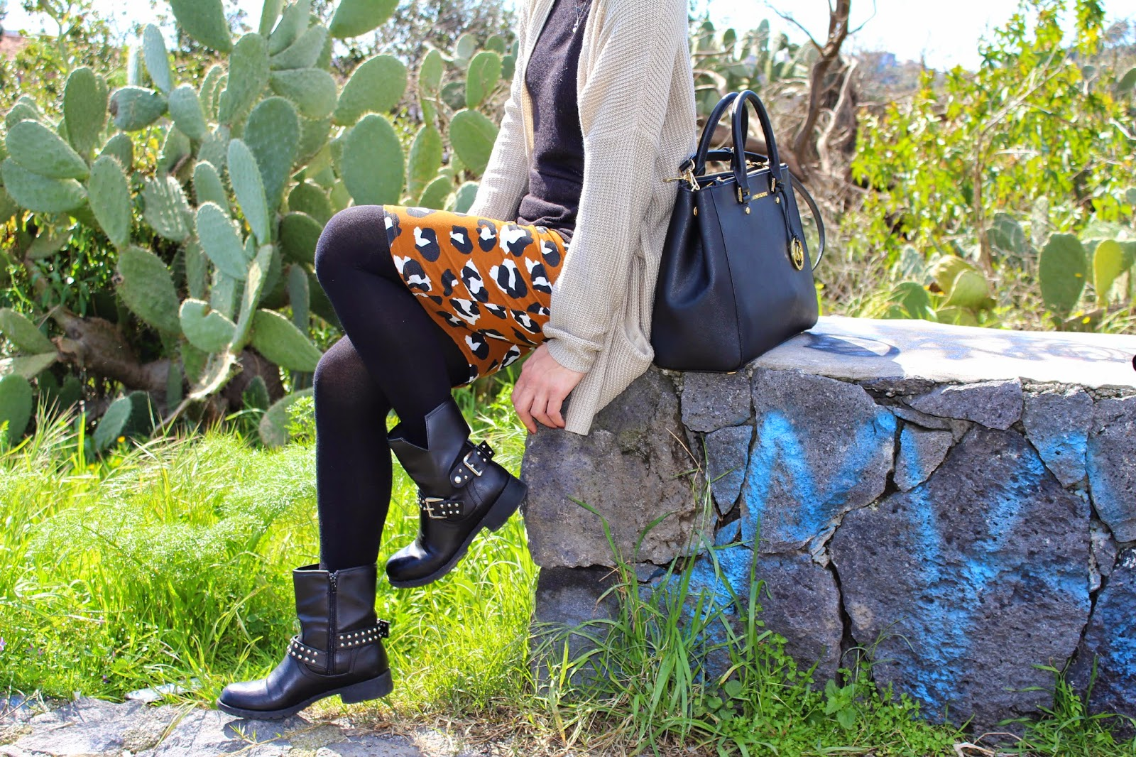outfit longuette animalier, stylegram