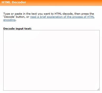 HTML Encoder/ Decoder