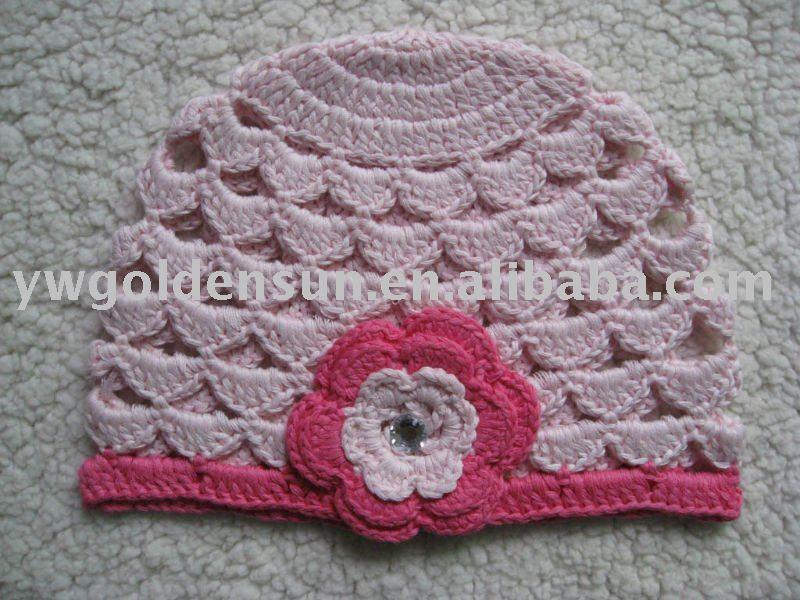 Вязание крючком шапочка для девочки для осень 12